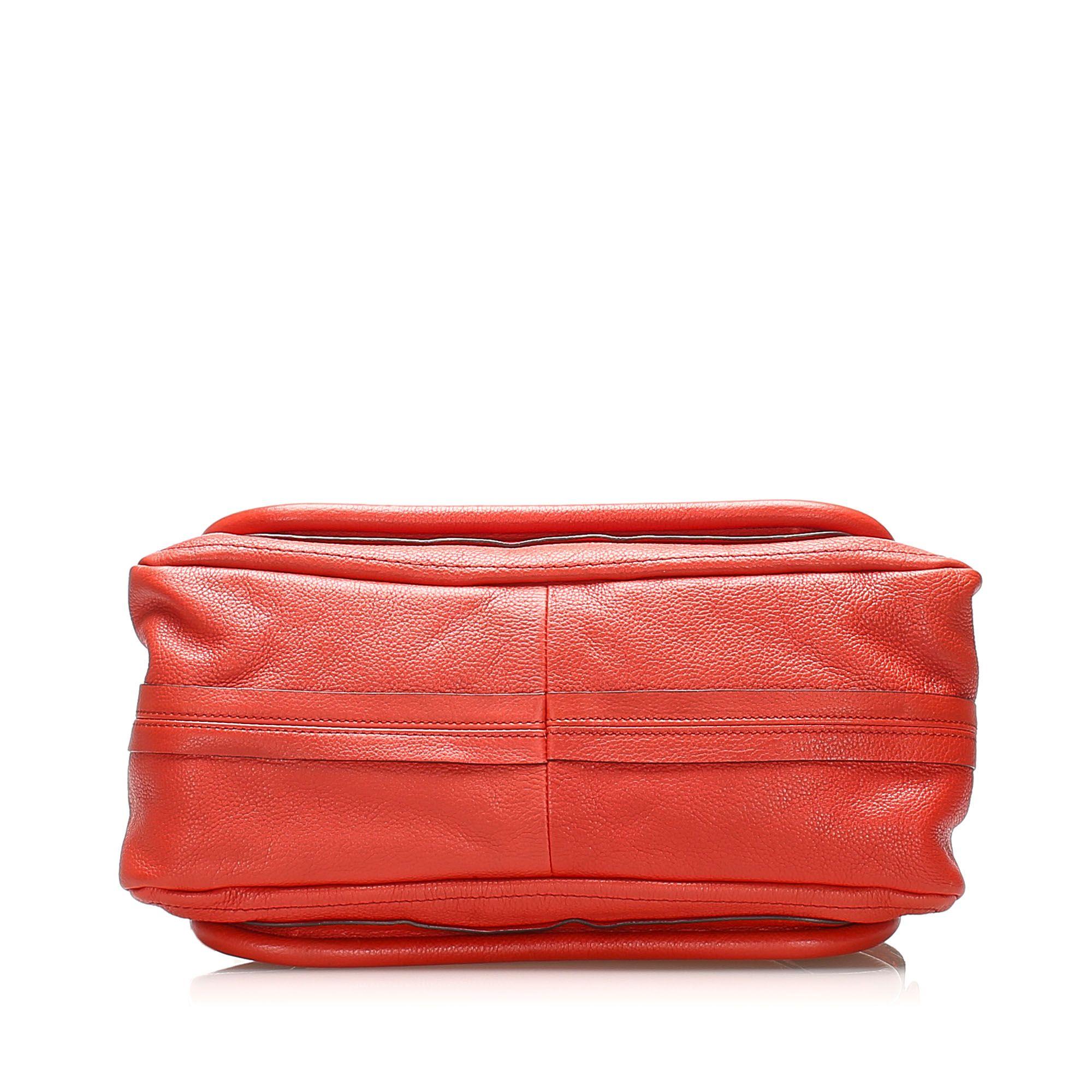 Vintage Chloe Paraty Leather Satchel Red