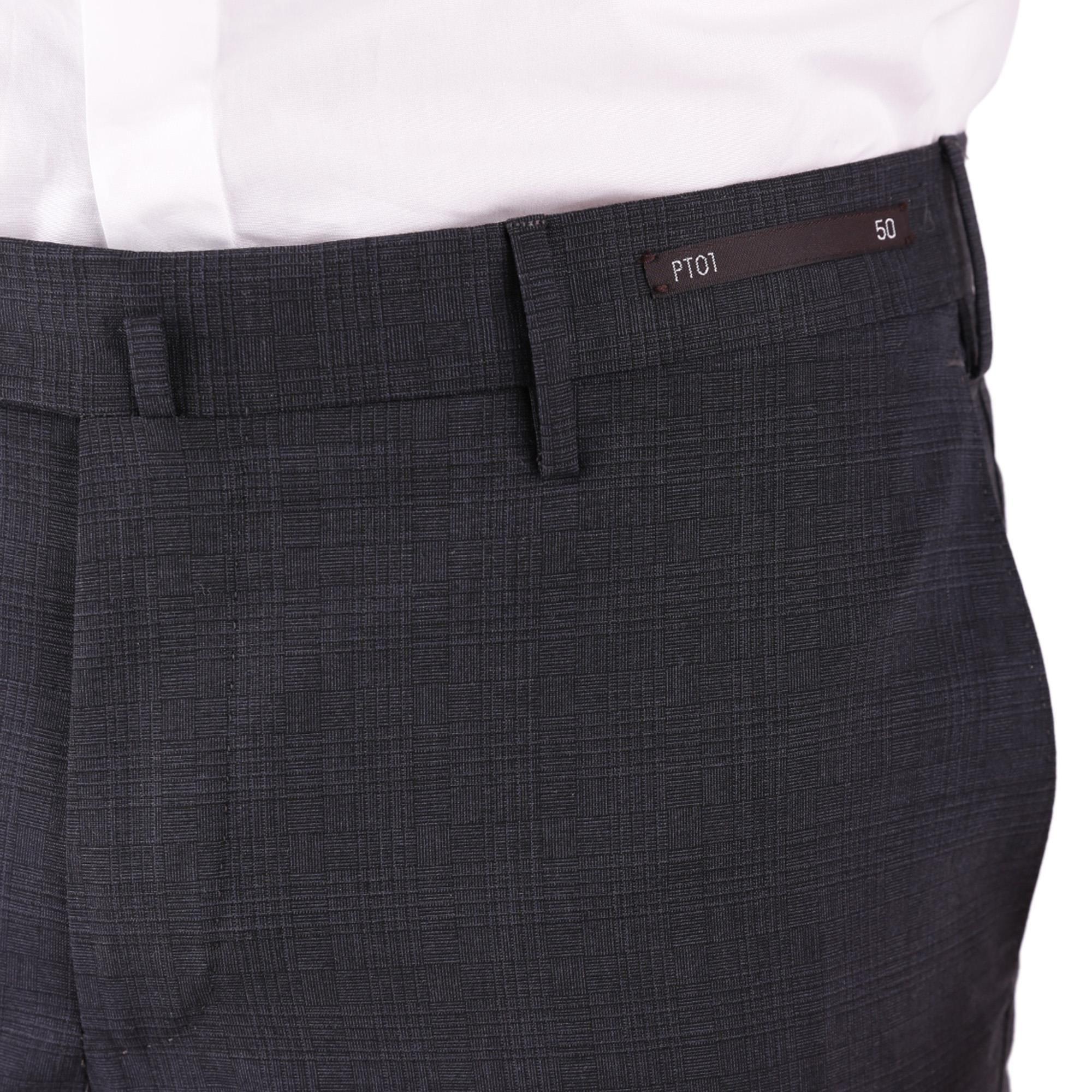PT01 MEN'S DSTVZ00NTVPO480250 BLUE COTTON PANTS