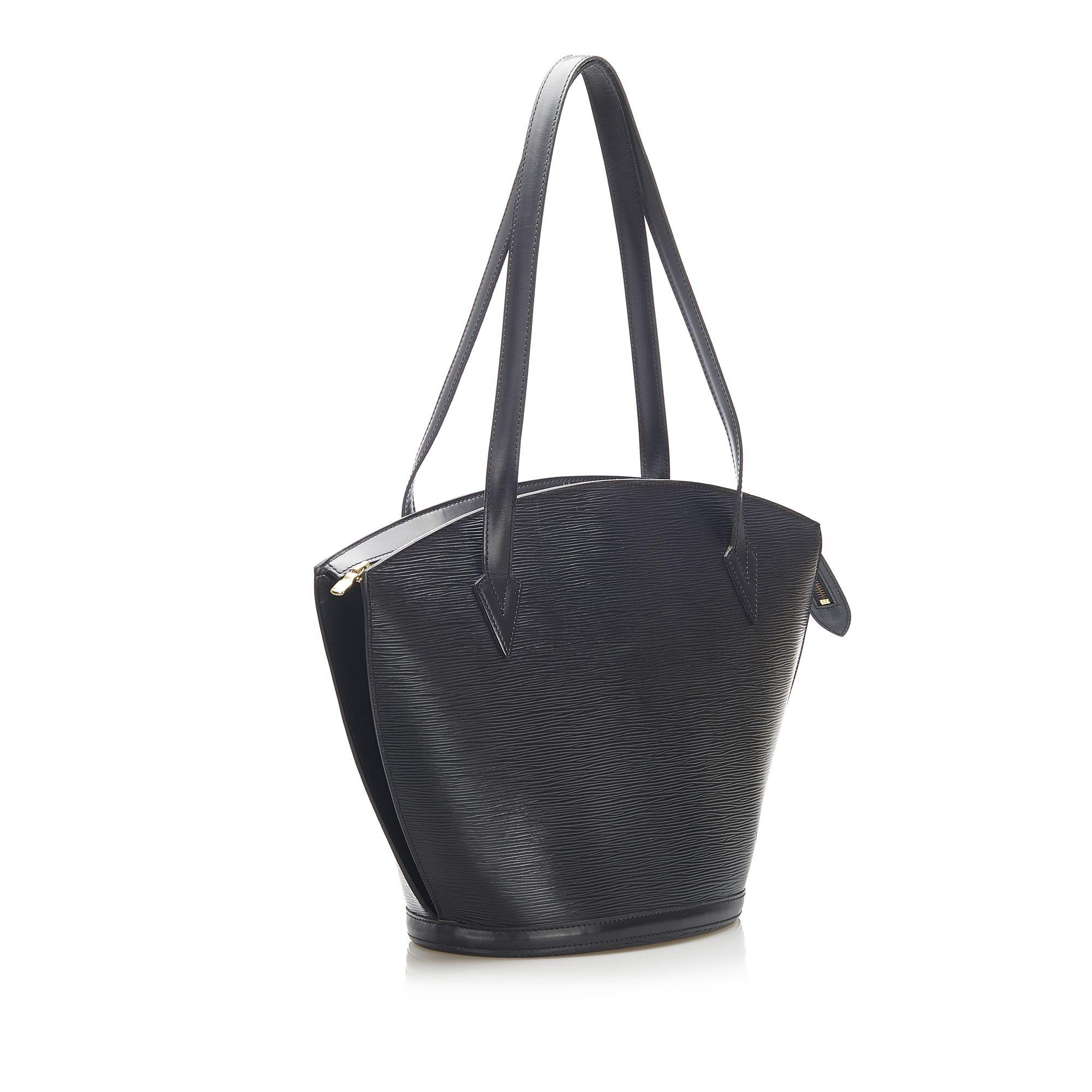 Vintage Louis Vuitton Epi Saint Jacques GM Long Strap Black
