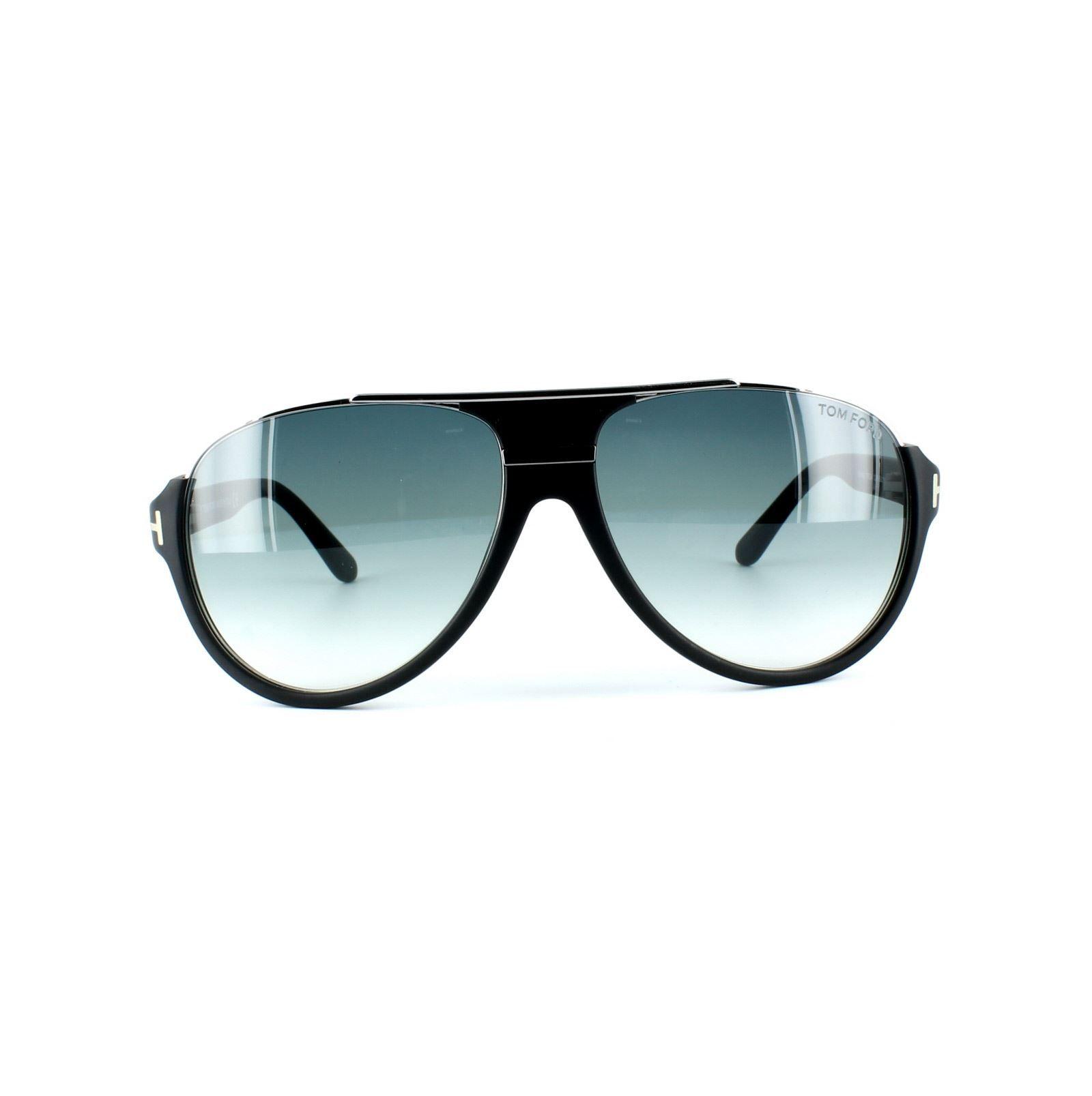 Tom Ford Sunglasses 0334 Dimitry 02W Matt Black Blue Grey Gradient
