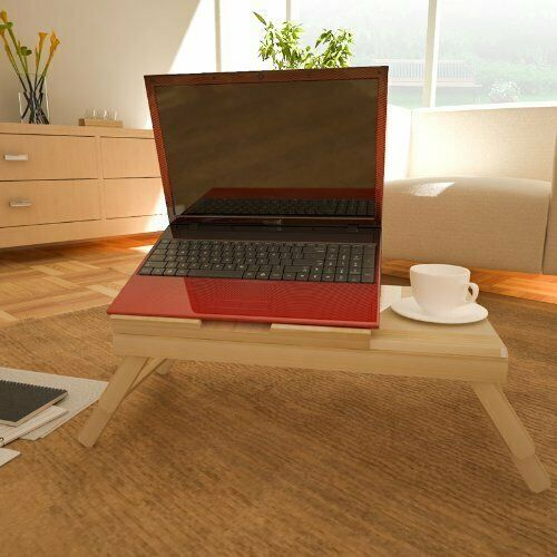 Furinno FNCL-33008 Pine Solid Wood AdJustable Ventilated Notebook Lapdesk, Natural