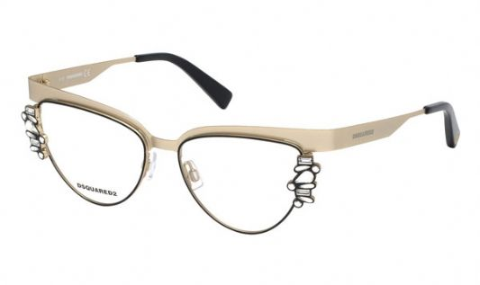 DSquared Cat eye metal Men Eyeglasses Gold / Clear Lens