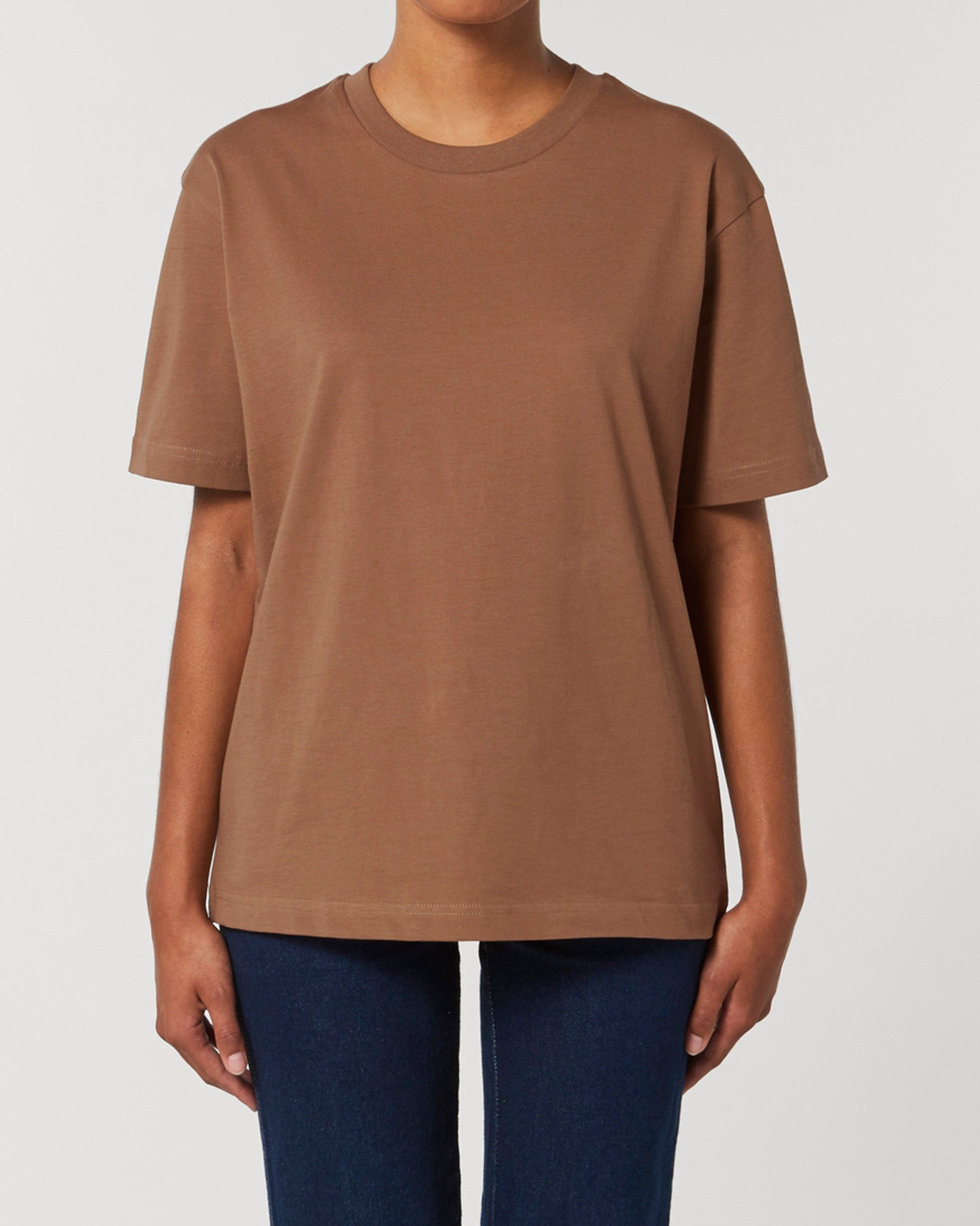 Antaratma Unisex Relaxed T-Shirt in Brown