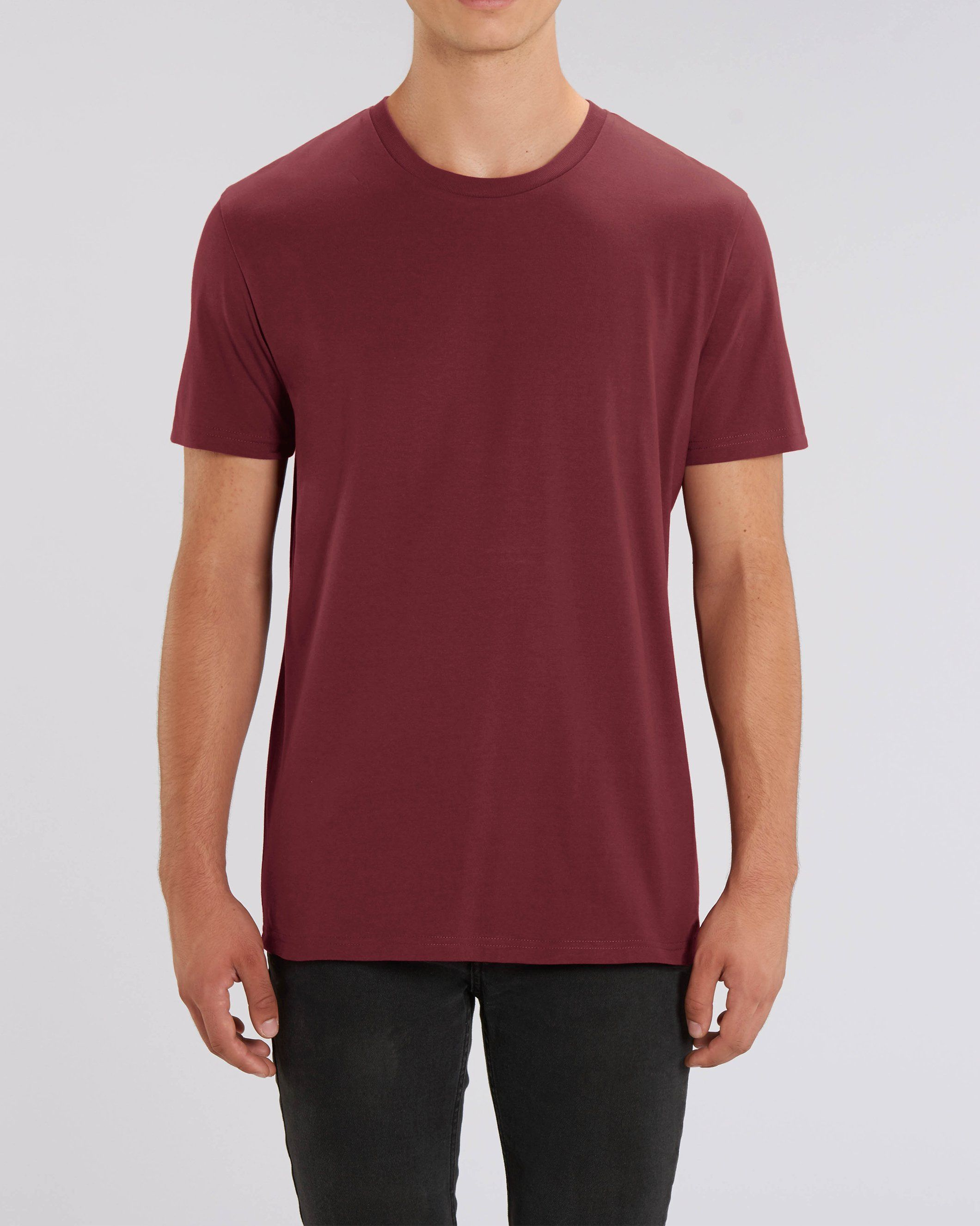 Nauli Unisex Regular Fit T-Shirt in Burgundy