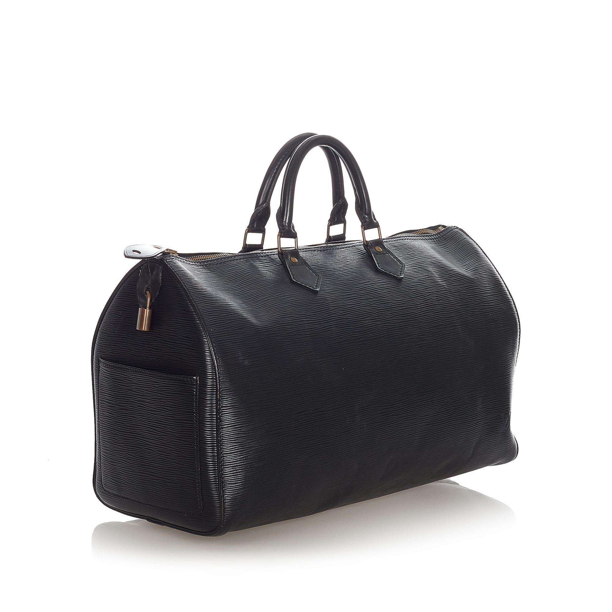 Vintage Louis Vuitton Epi Speedy 40 Black