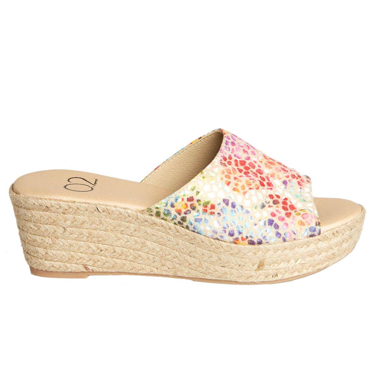 Leindia Sparto Wedge Sandal in Multicolour