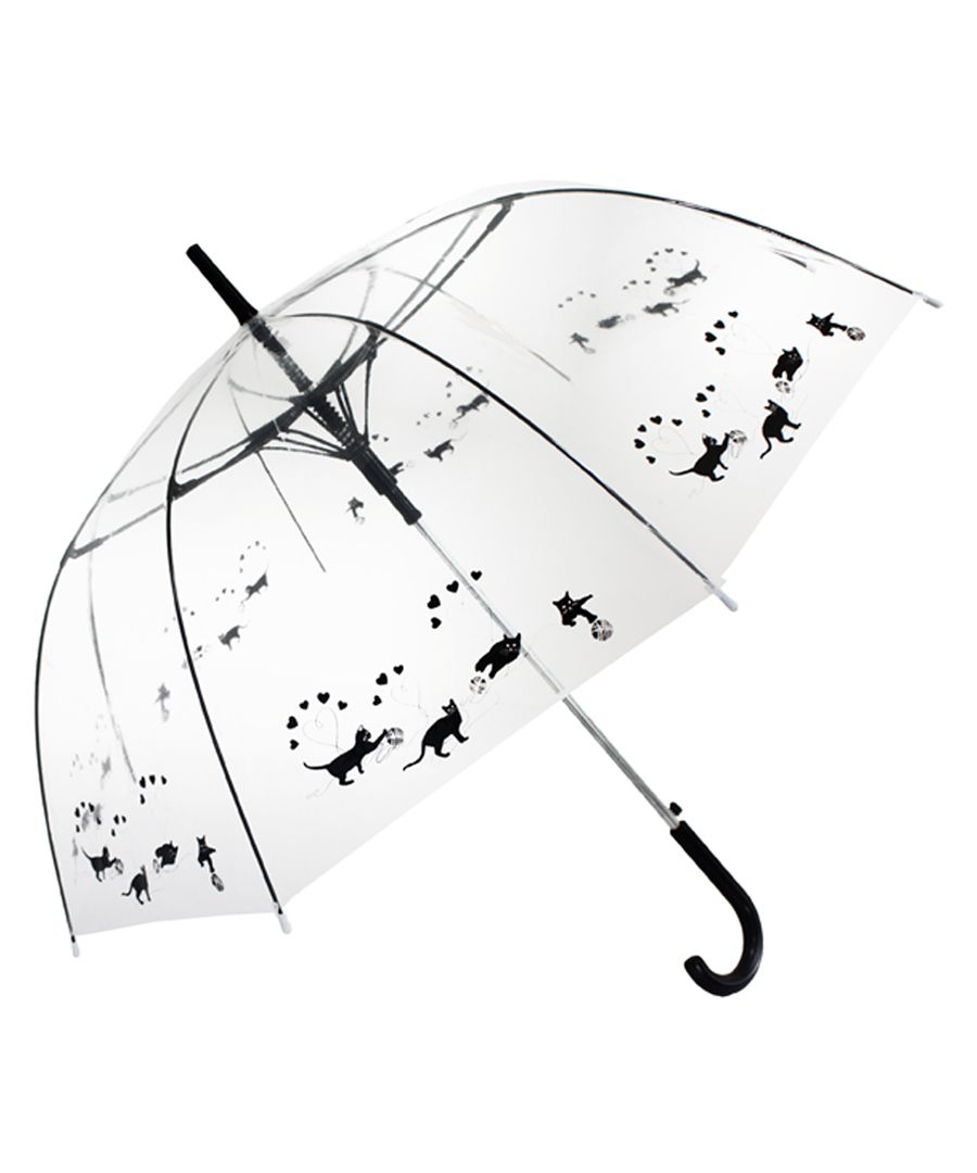 Black cats transparent umbrella
