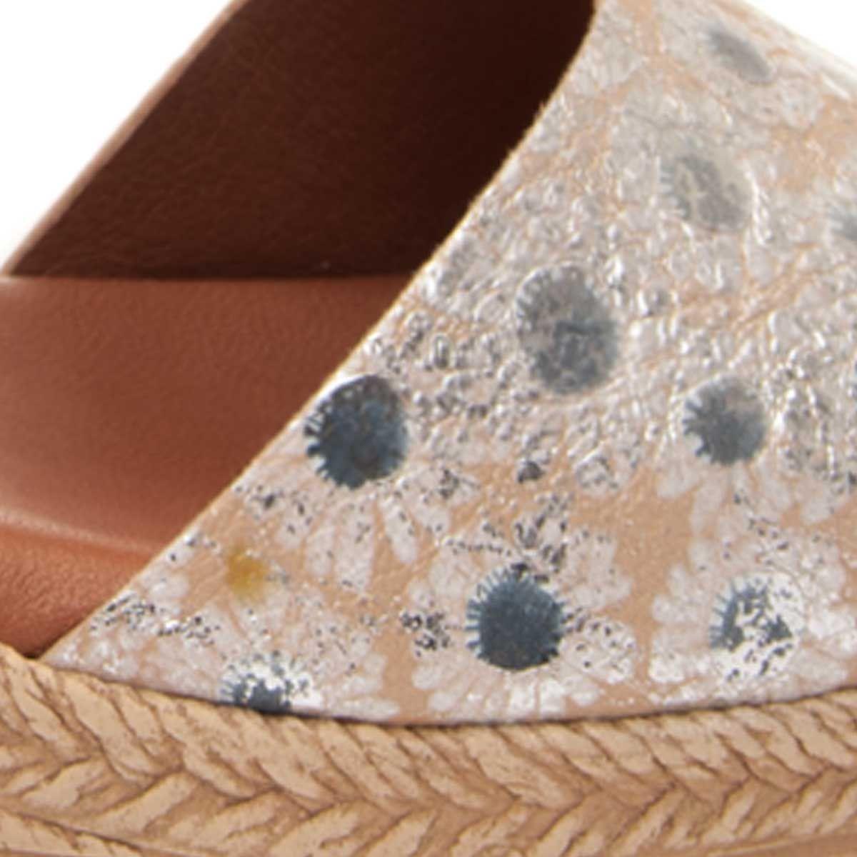Montevita Chunky Heel Sandal in Silver