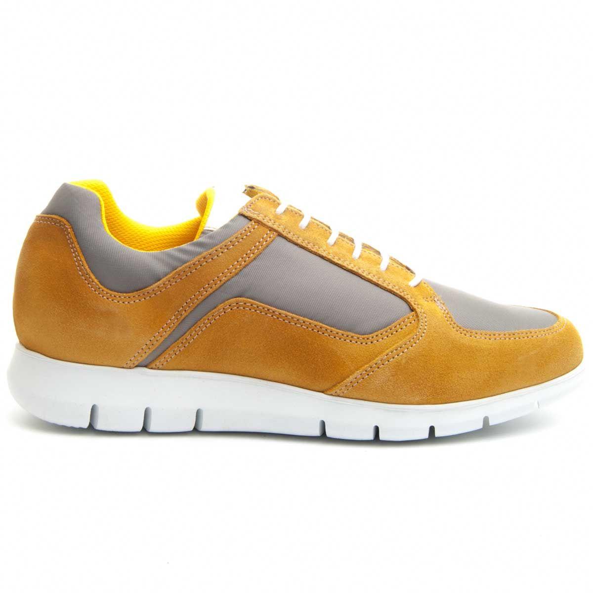 Purapiel Cleated Sole Sneaker in Yellow