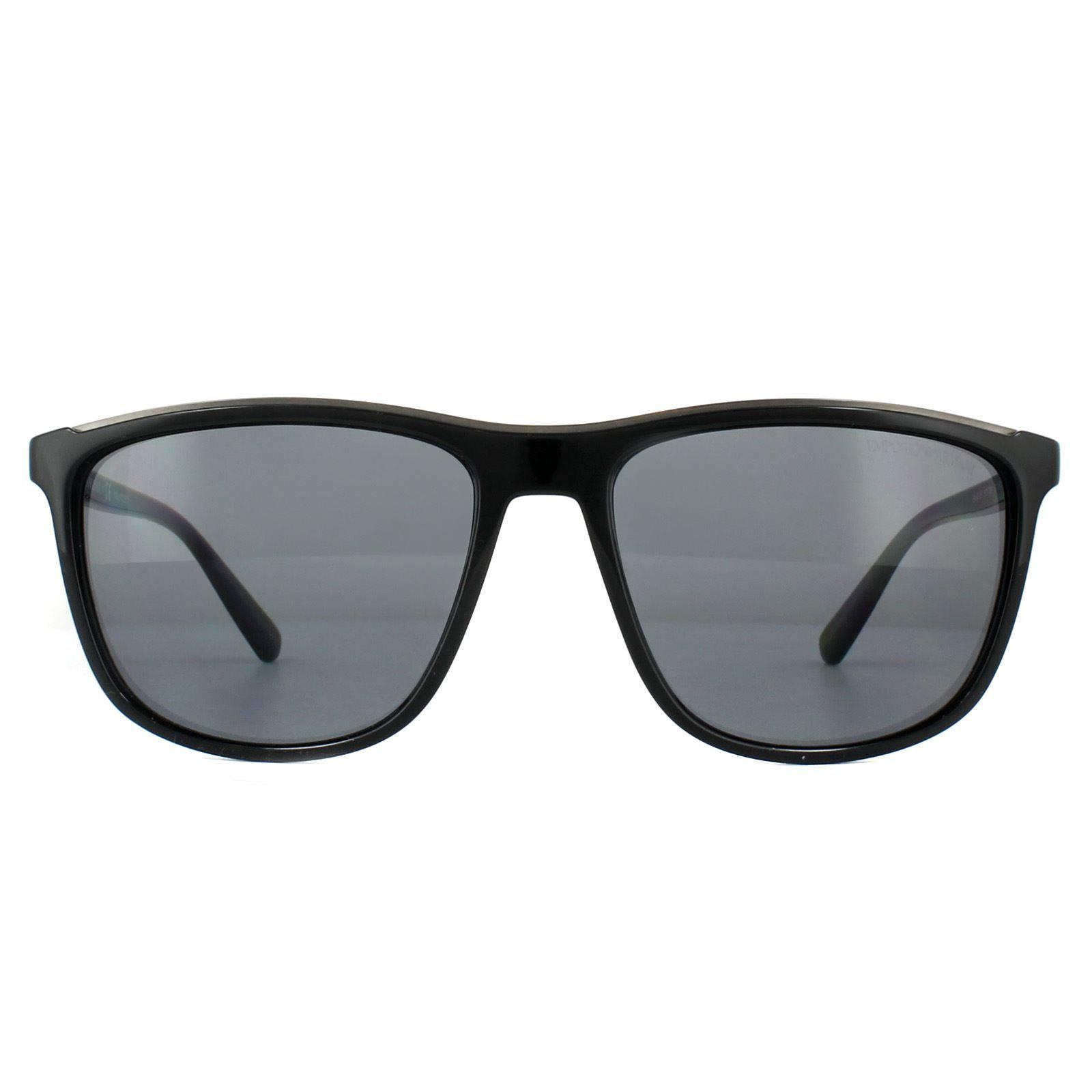 Emporio Armani Sunglasses EA4109 501781 Black Grey Polarized