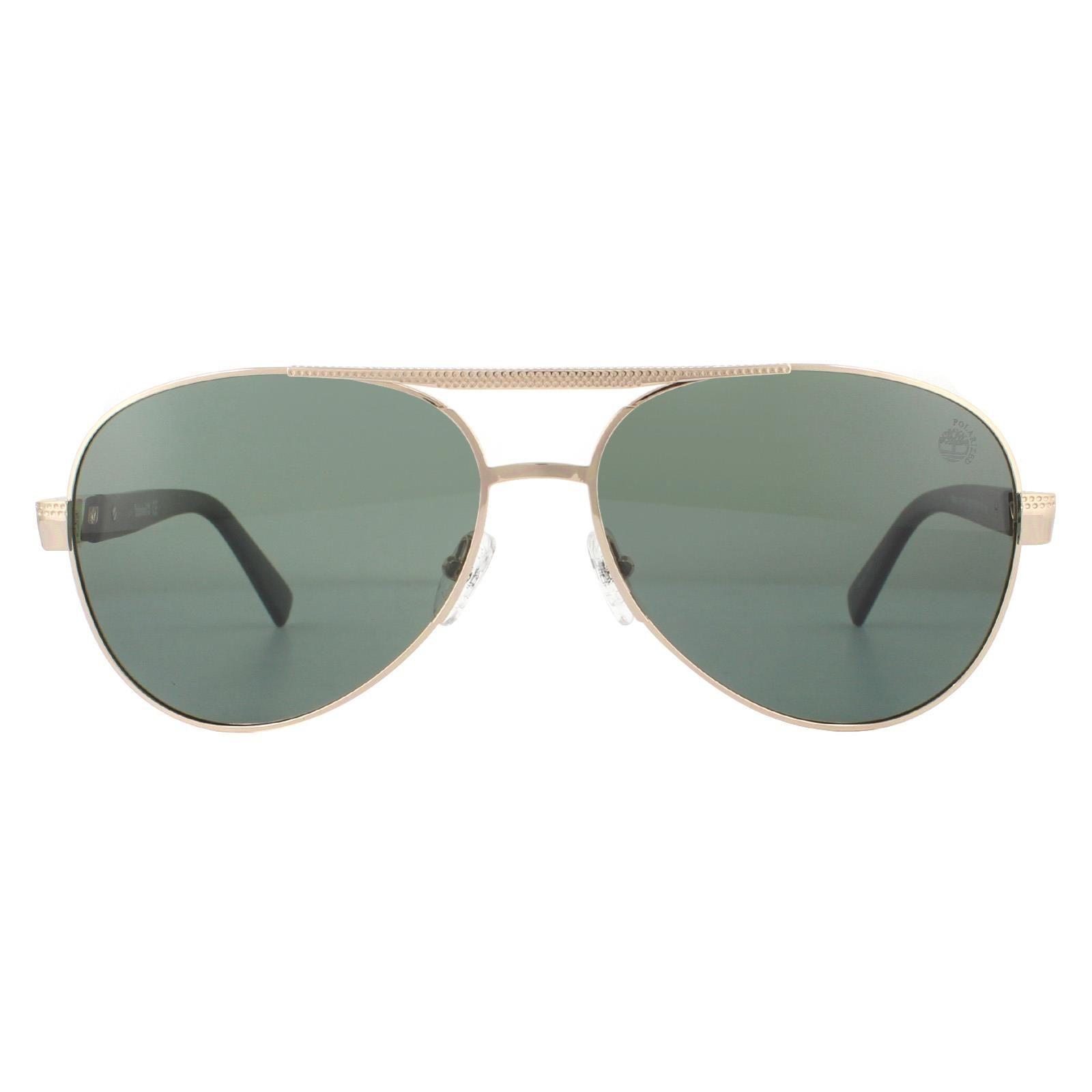 Timberland Sunglasses TB9214 32R Gold Green Polarized