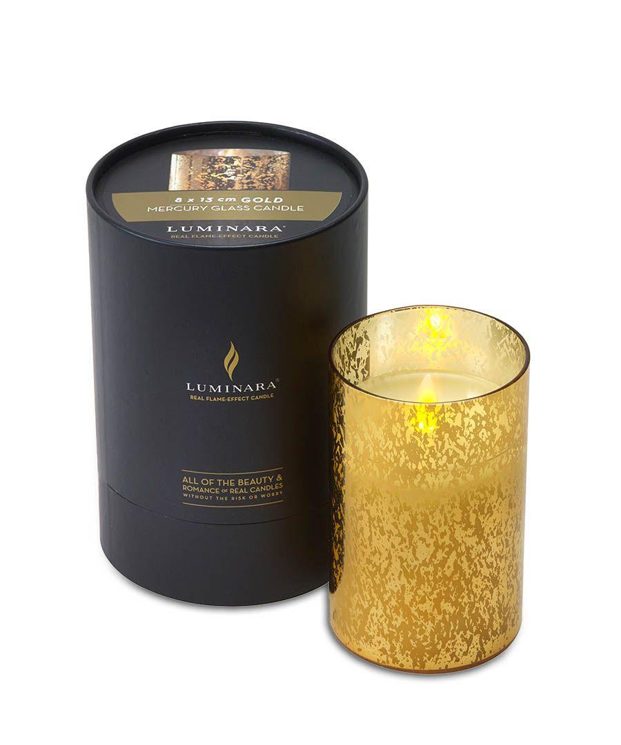 Gold jar candle 18cm