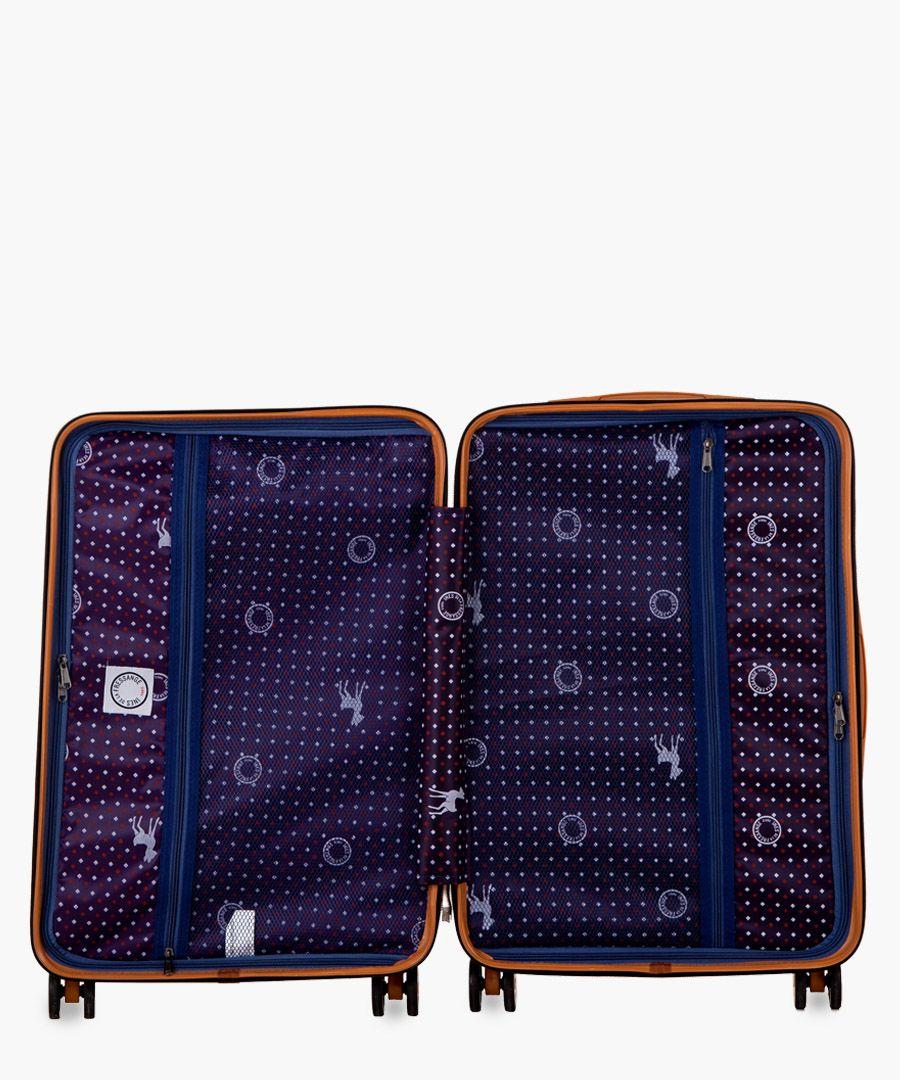 Bonaparte silver-tone suitcase