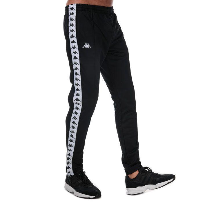 Men's Kappa Banda Astoria Snap Pants in Black-White
