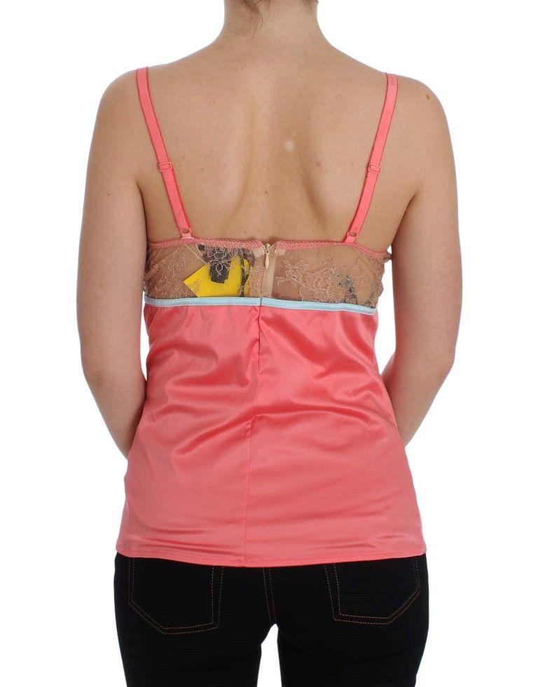Cavalli Pink Camisole Blouse Tank Top