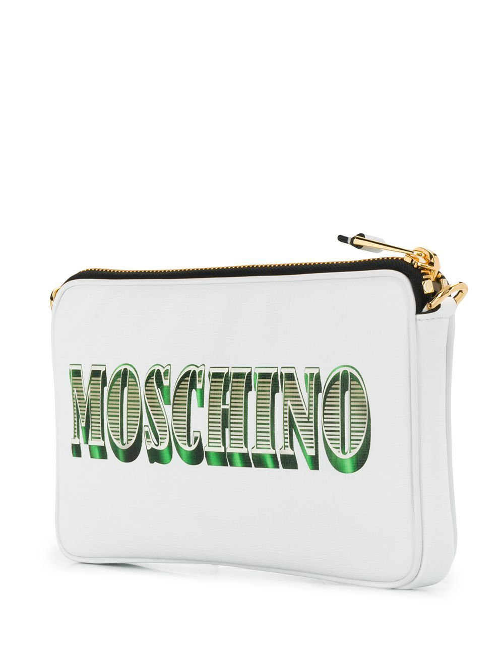 MOSCHINO WOMEN'S A756782103001 WHITE LEATHER POUCH