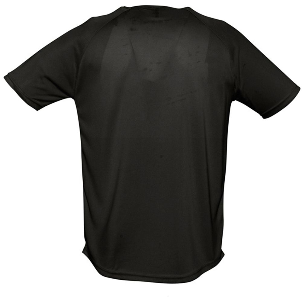 SOLS Mens Sporty Short Sleeve Performance T-Shirt (Black)