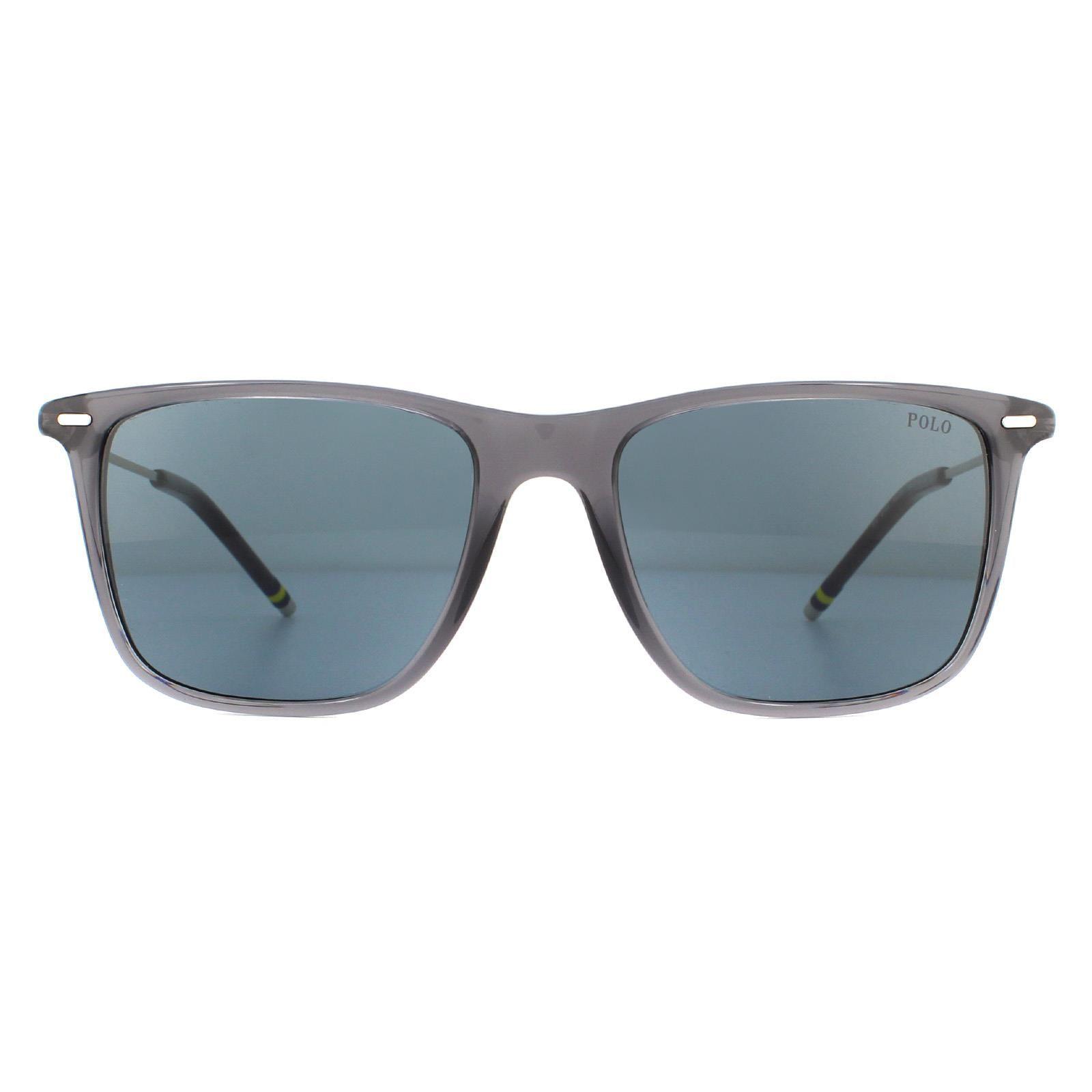 Polo Ralph Lauren Sunglasses PH4163 532087 Transparent Shiny Grey Grey