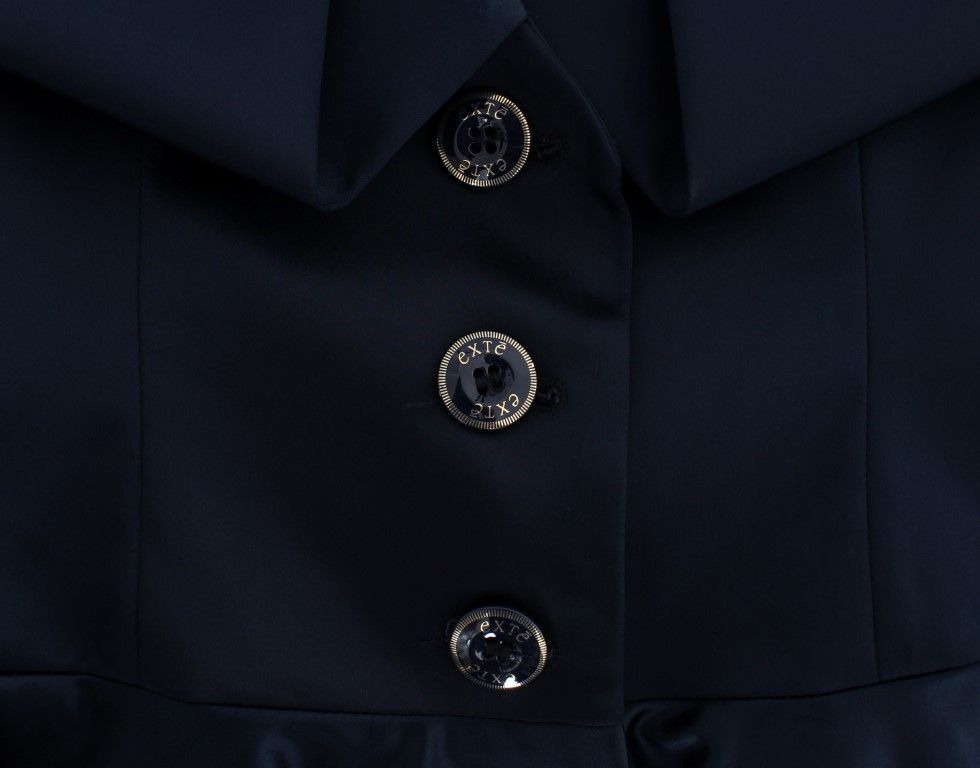 EXTE Blue Three Button Single Breasted Blazer Jacket