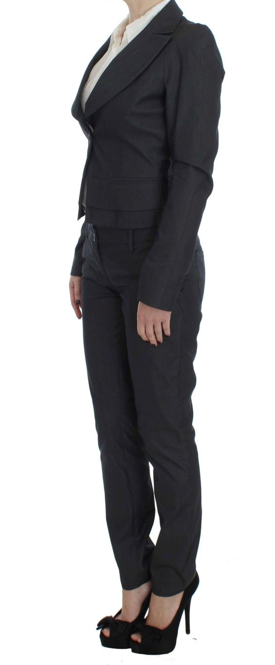 EXTE Gray One Button Two Piece Suit