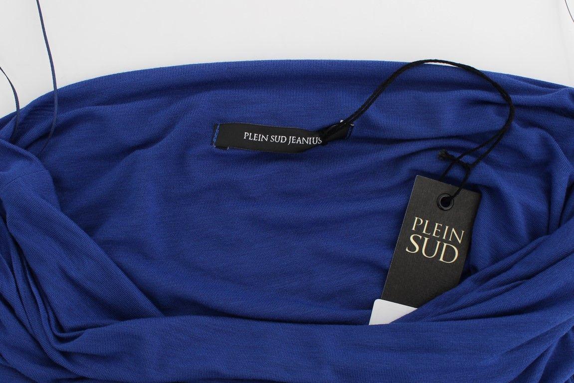 PLEIN SUD Blue Stretch Bustier Top