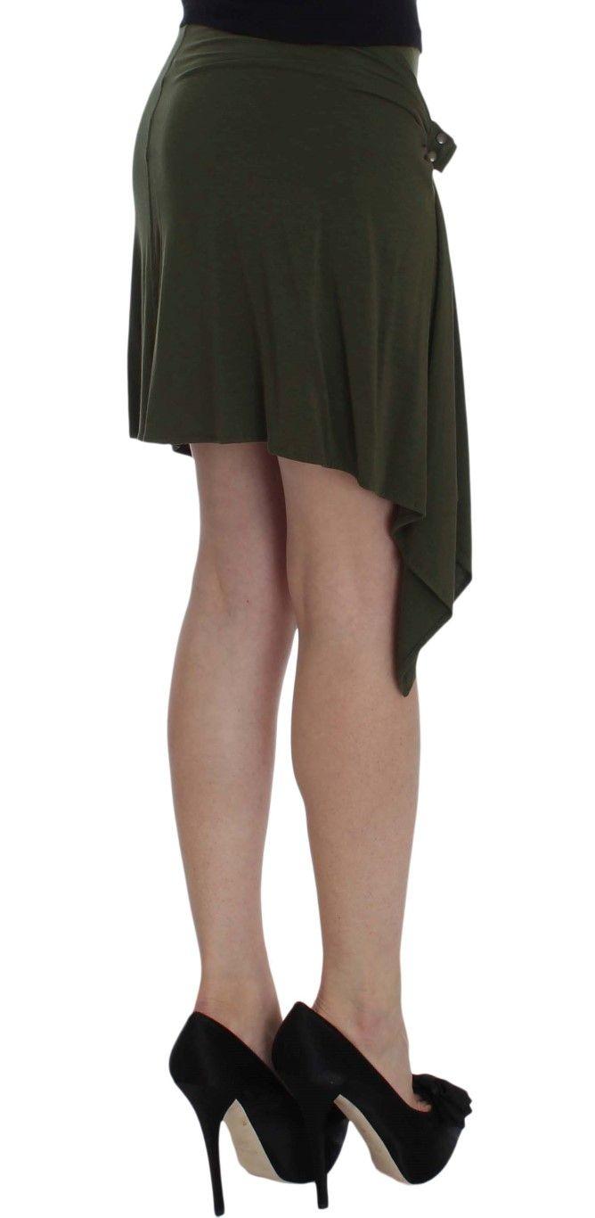 PLEIN SUD Green Mini Pencil Stretch Skirt