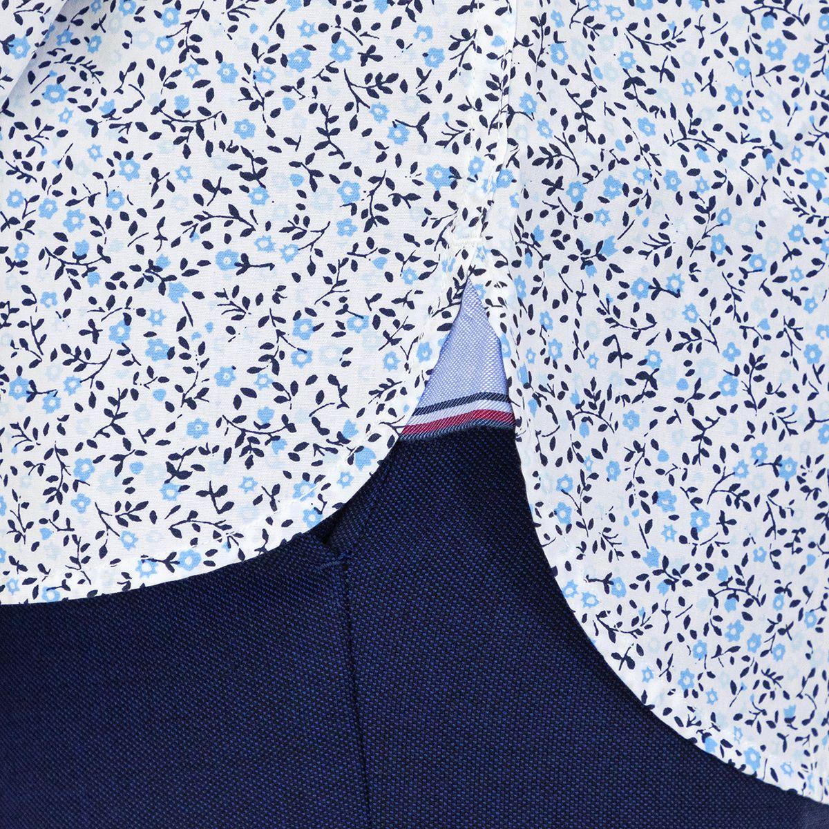Tommy Hilfiger Men's Shirt Floral Regular Fit Full Sleeve Multicolor
