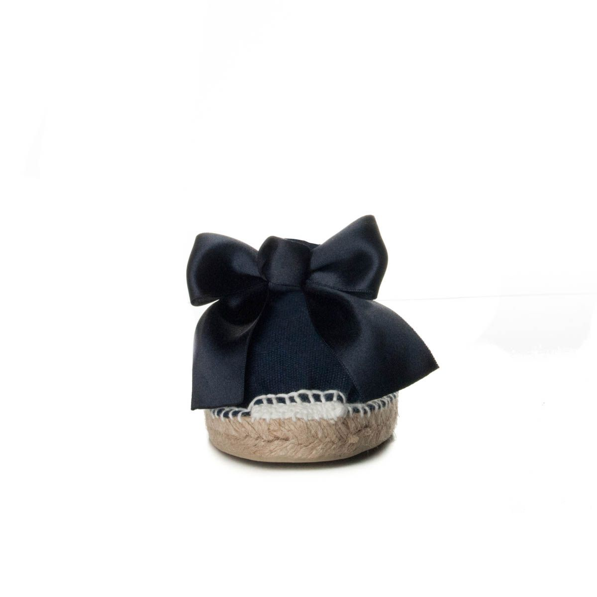 Maria Graor Bow Front Espadrille in Blue