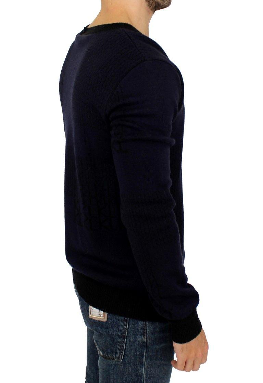 Karl Lagerfeld Blue v-neck pullover sweater