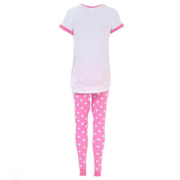 Women's Disney Tinkerbell Pyjamas in Pink white