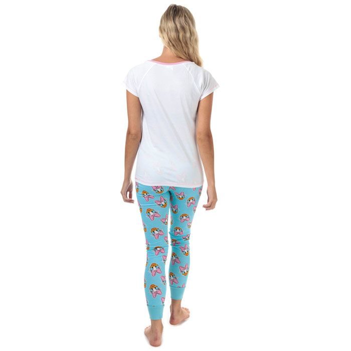 Women's Disney Daisy Duck Pyjamas in White blue