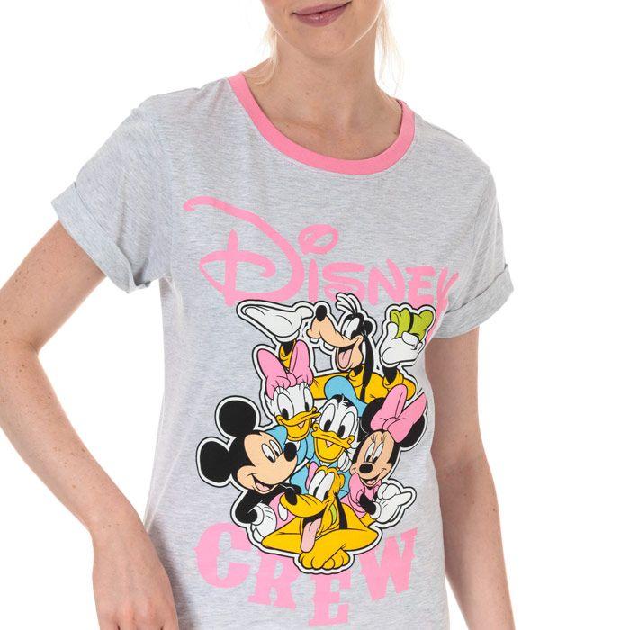 Women's Disney Minnie and Friends Pyjamas in White pink