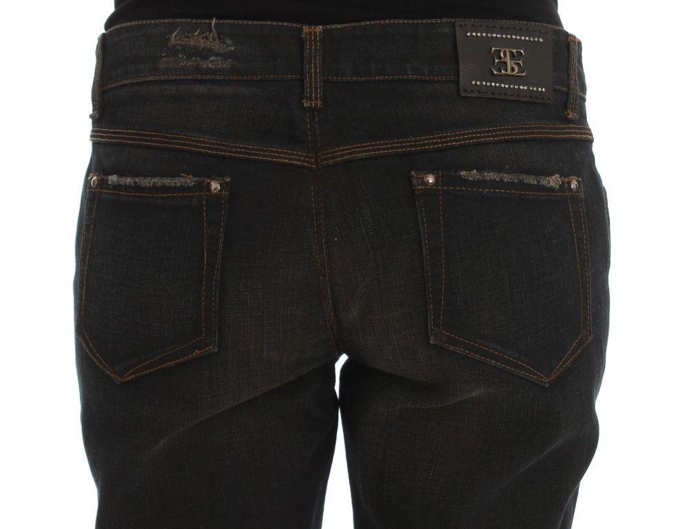 Ermanno Scervino Blue Wash Cotton Boyfriend Jeans