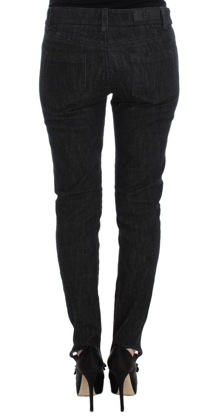 Ermanno Scervino Blue Cotton Slim Fit Denim Jeans