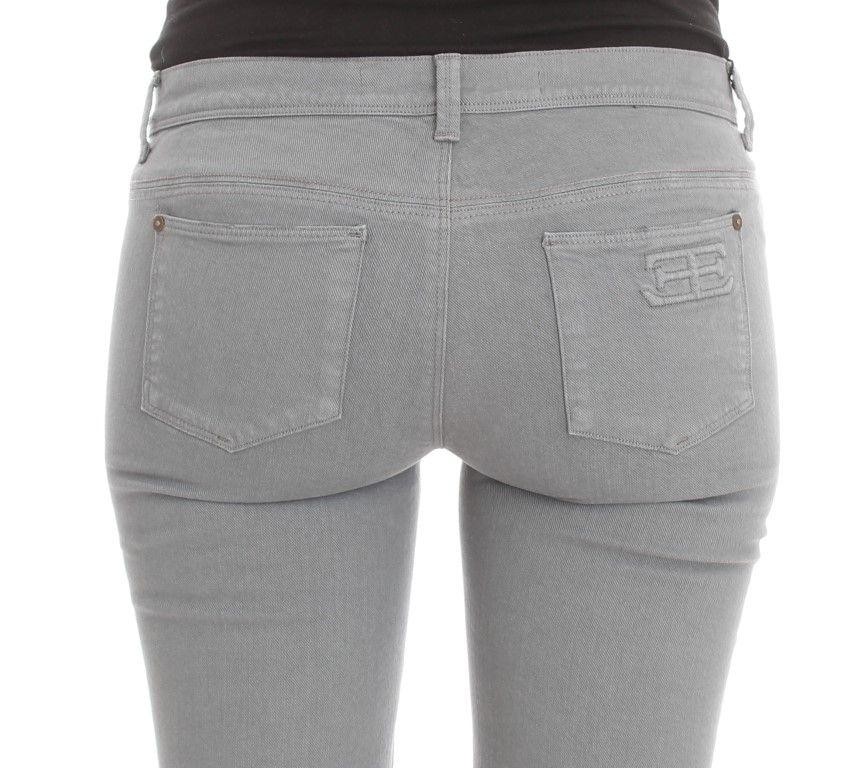Ermanno Scervino Blue Cotton Blend Slim Fit Bootcut Jeans