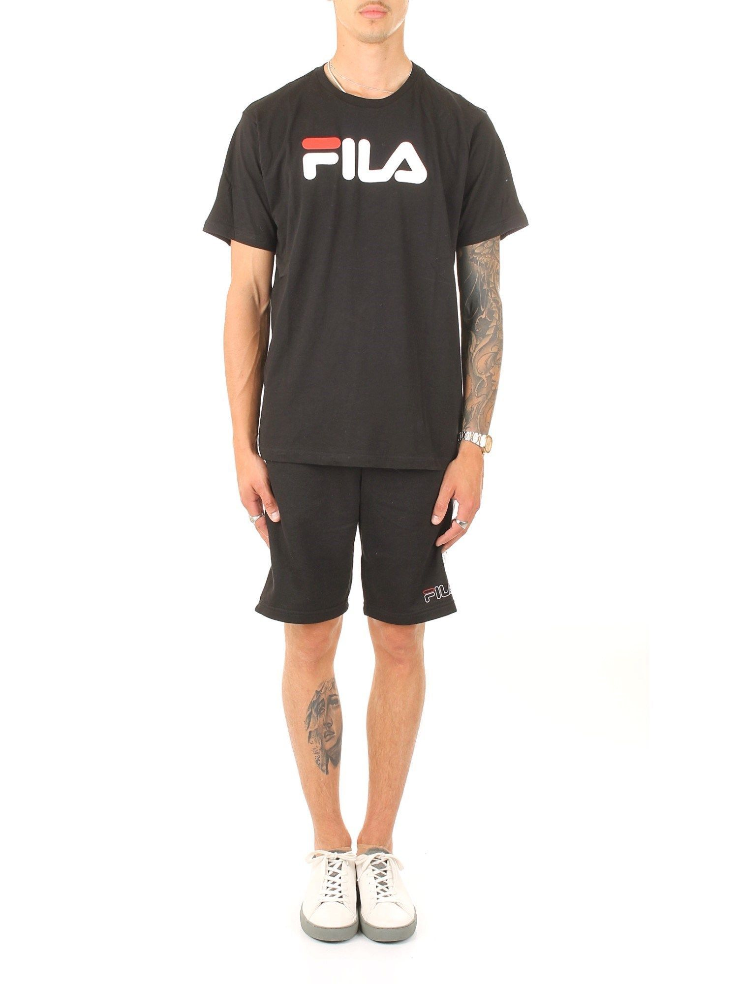 FILA  MEN'S 681093002 BLACK COTTON T-SHIRT