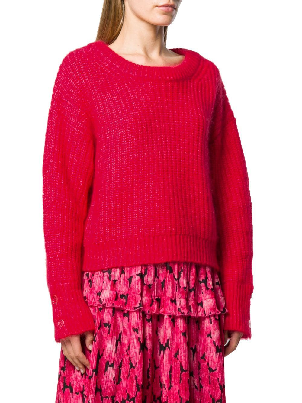 KENZO WOMEN'S F962TO62084321 RED POLYAMIDE SWEATER