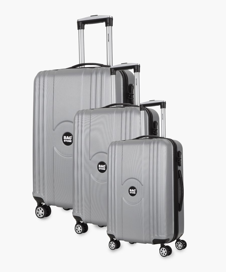 Jack silver-tone spinner suitcase