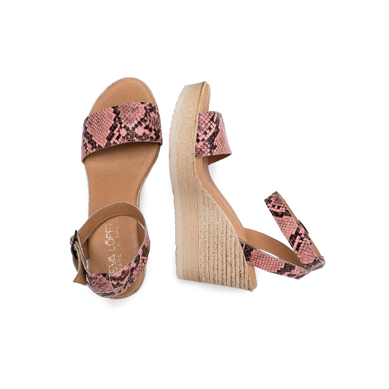 Eva Lopez Wedge Sandals Snake Women Summer Shoes