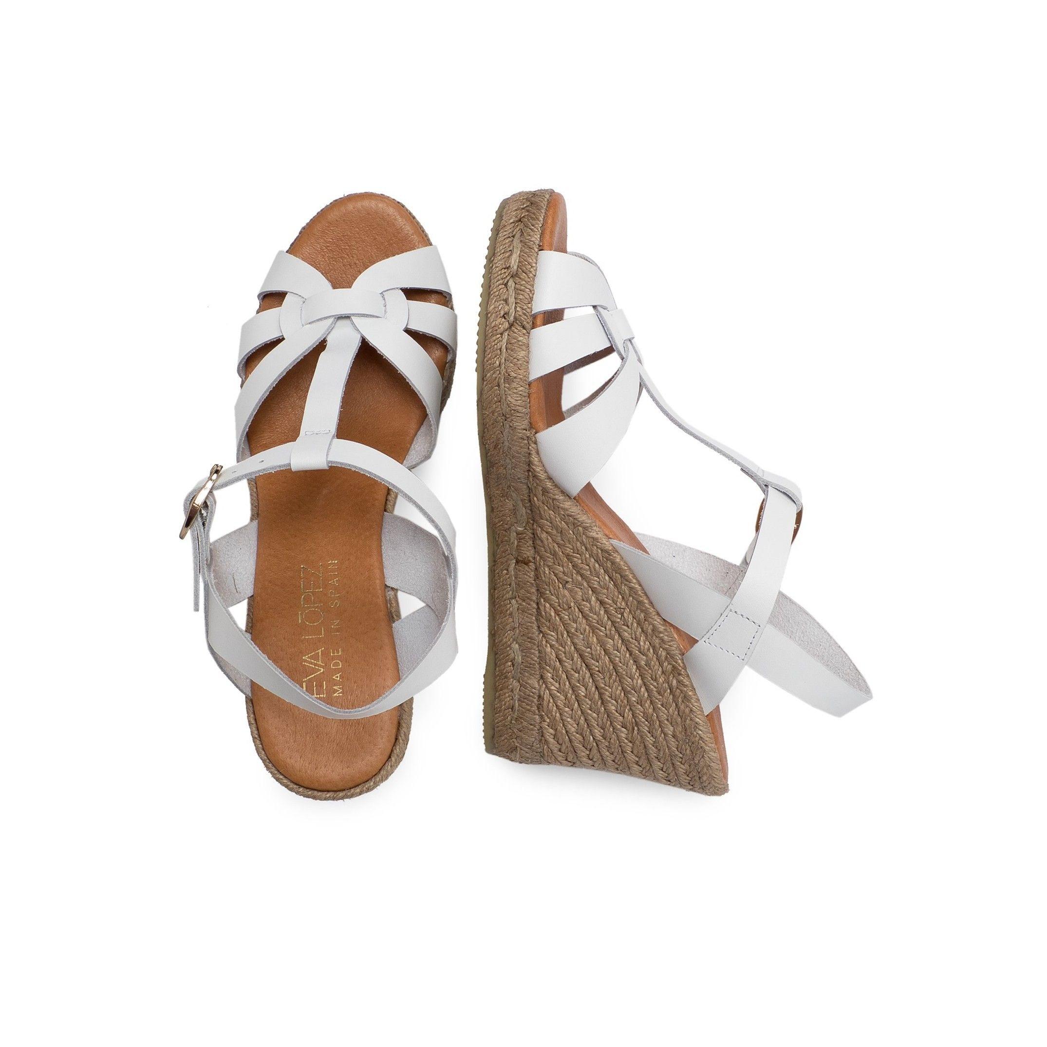 Eva Lopez Ankle Strap Wedge Sandals Women Summer