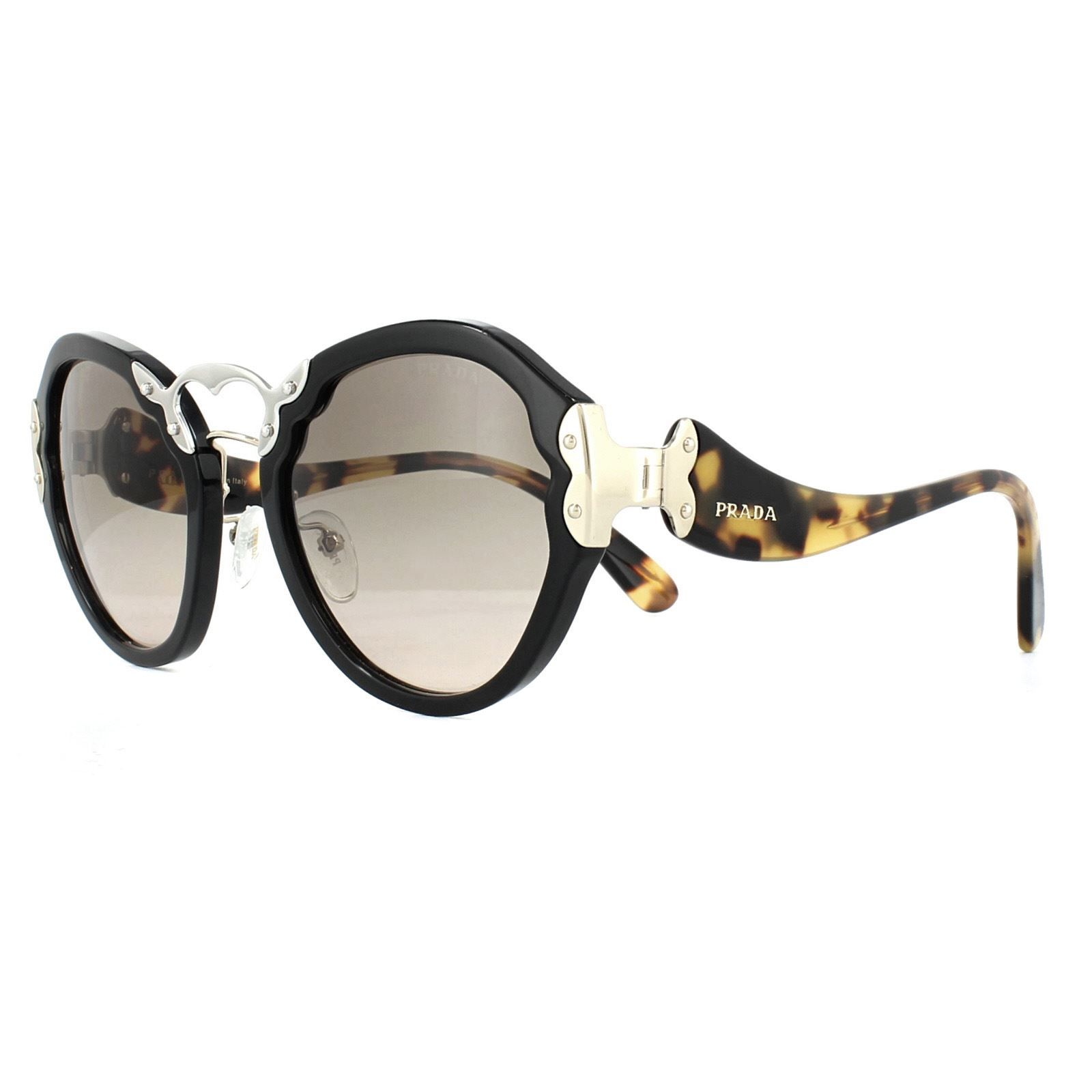Prada Sunglasses 09TS 1AB3D0 Black Brown Gradient Grey