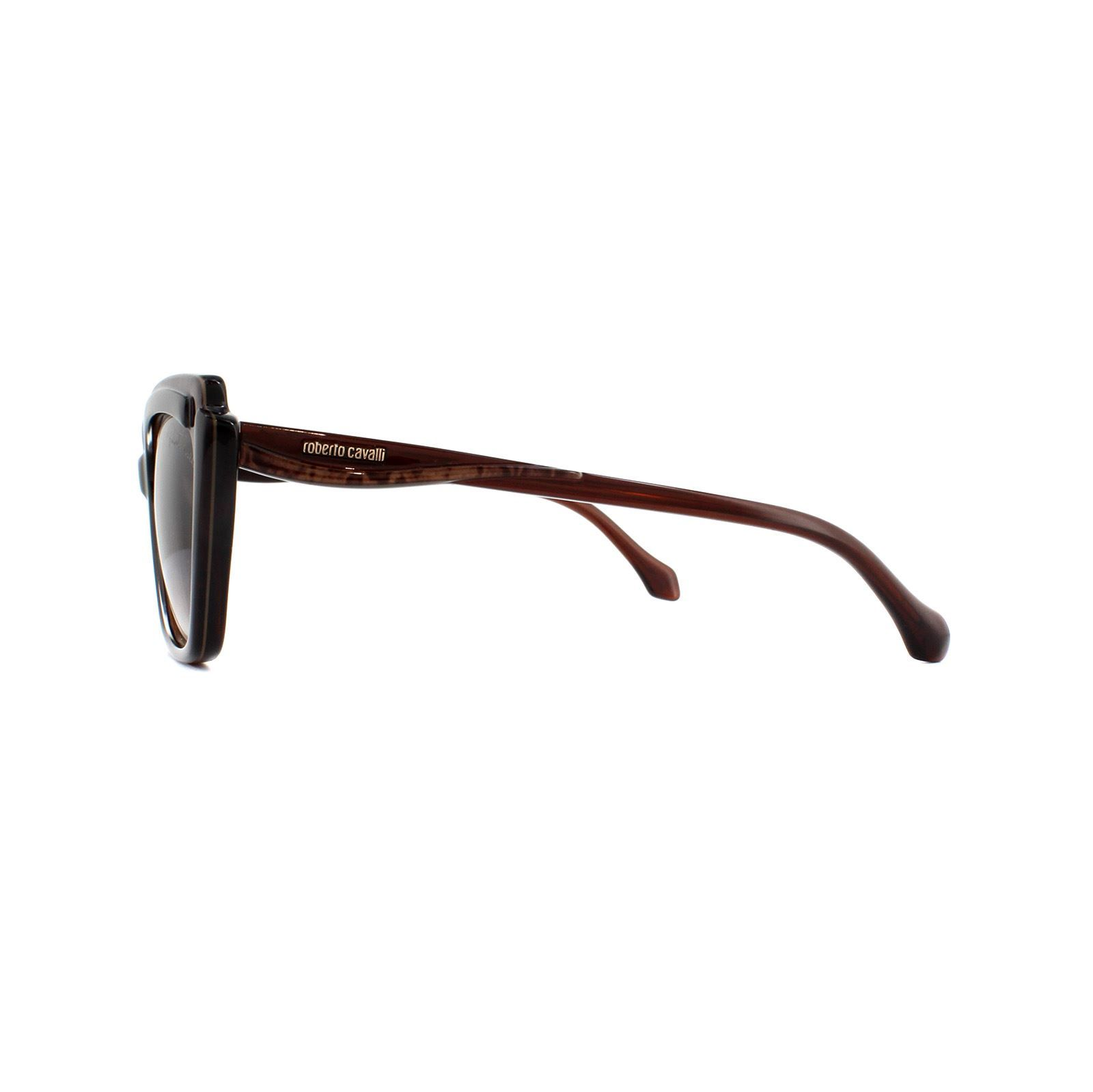 Roberto Cavalli Sunglasses Chiusi RC1051 50F Dark Brown Brown Gradient