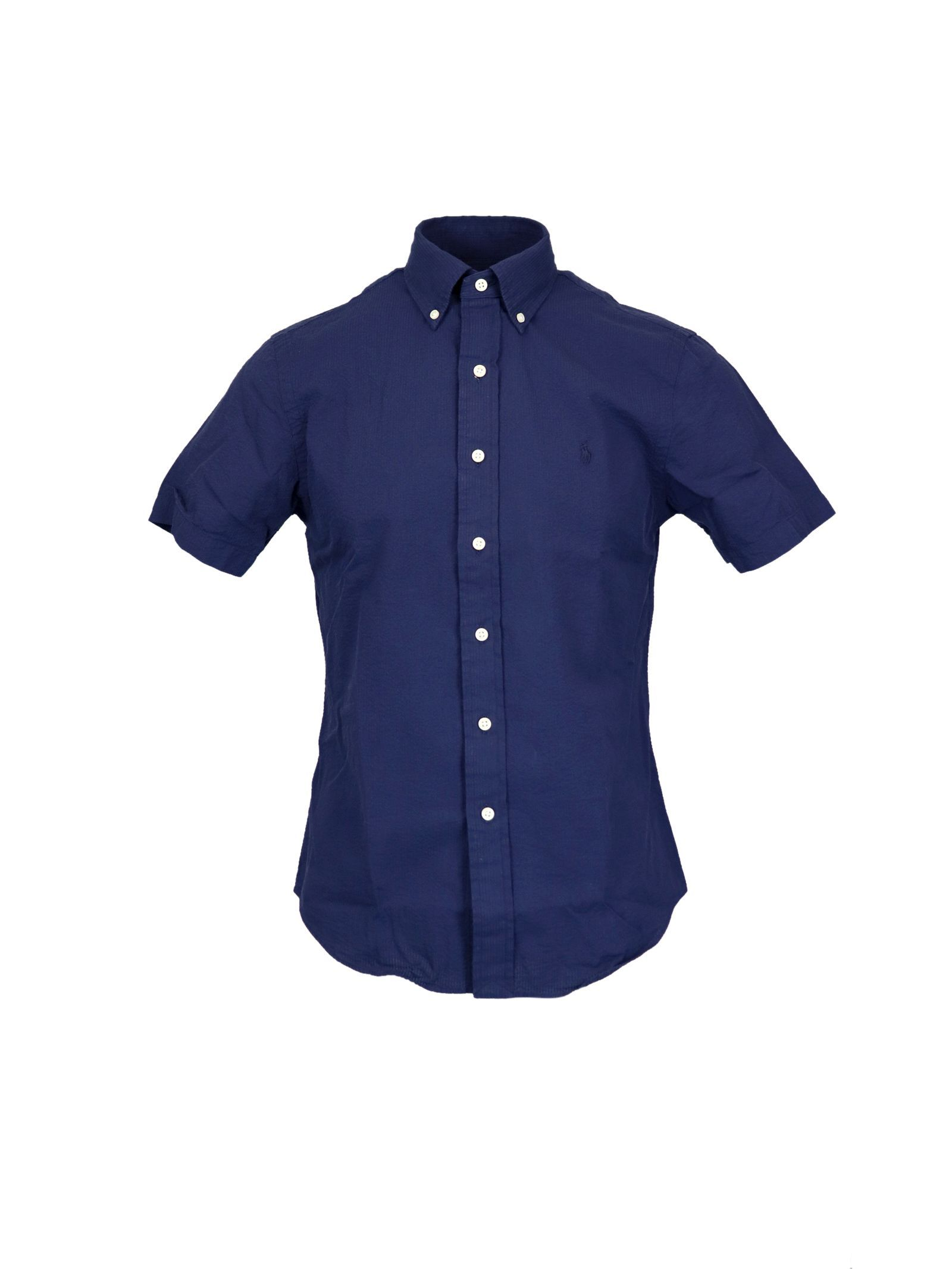 RALPH LAUREN MEN'S 710795250002 BLUE COTTON SHIRT