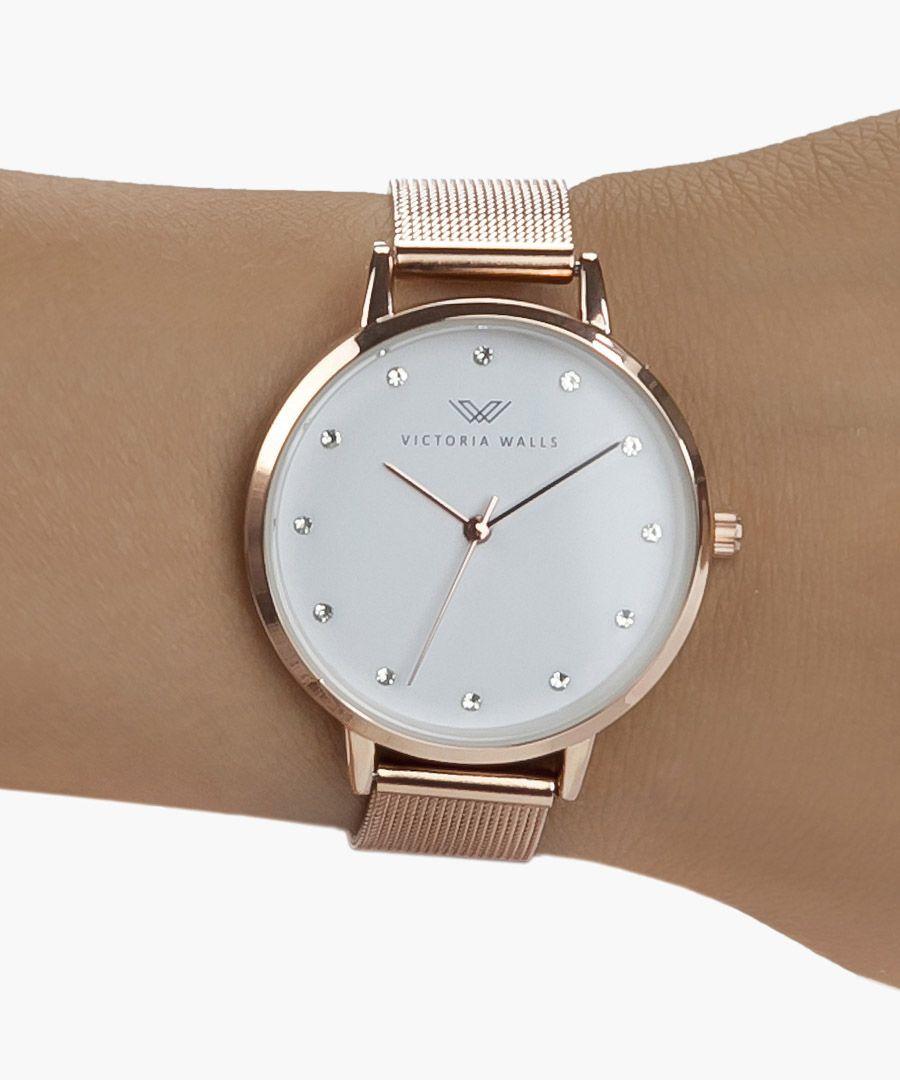 Natali rose gold-plated analogue watch