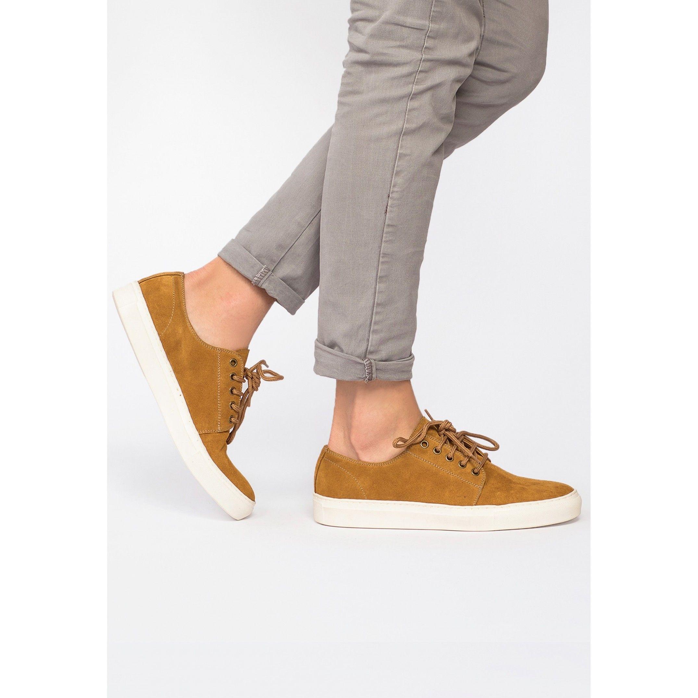 Men's Leather Sneakers in Brown