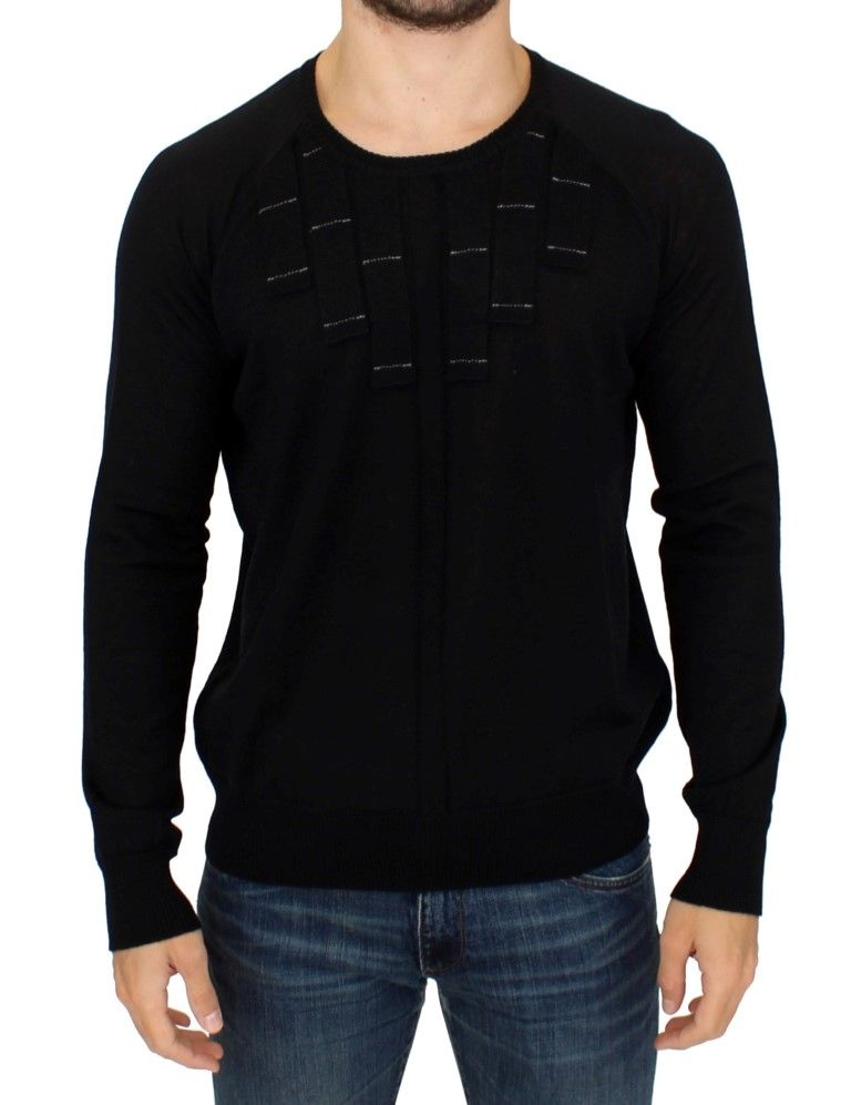 Karl Lagerfeld Black crewneck pullover sweater