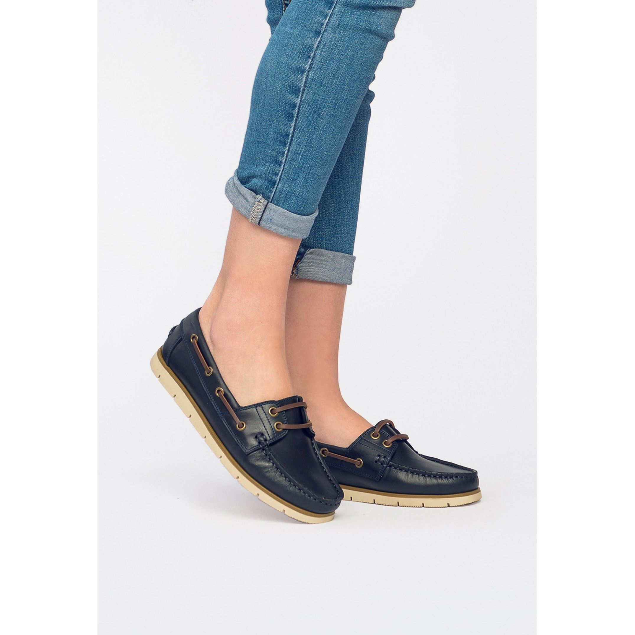 Leather Boat Shoes for Women