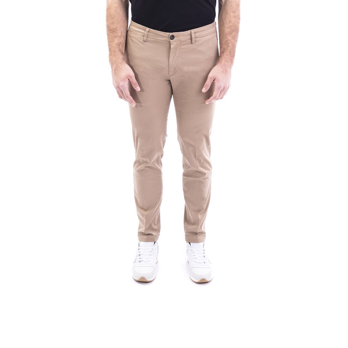 RE-HASH MEN'S P2492389BW0441 BEIGE COTTON PANTS