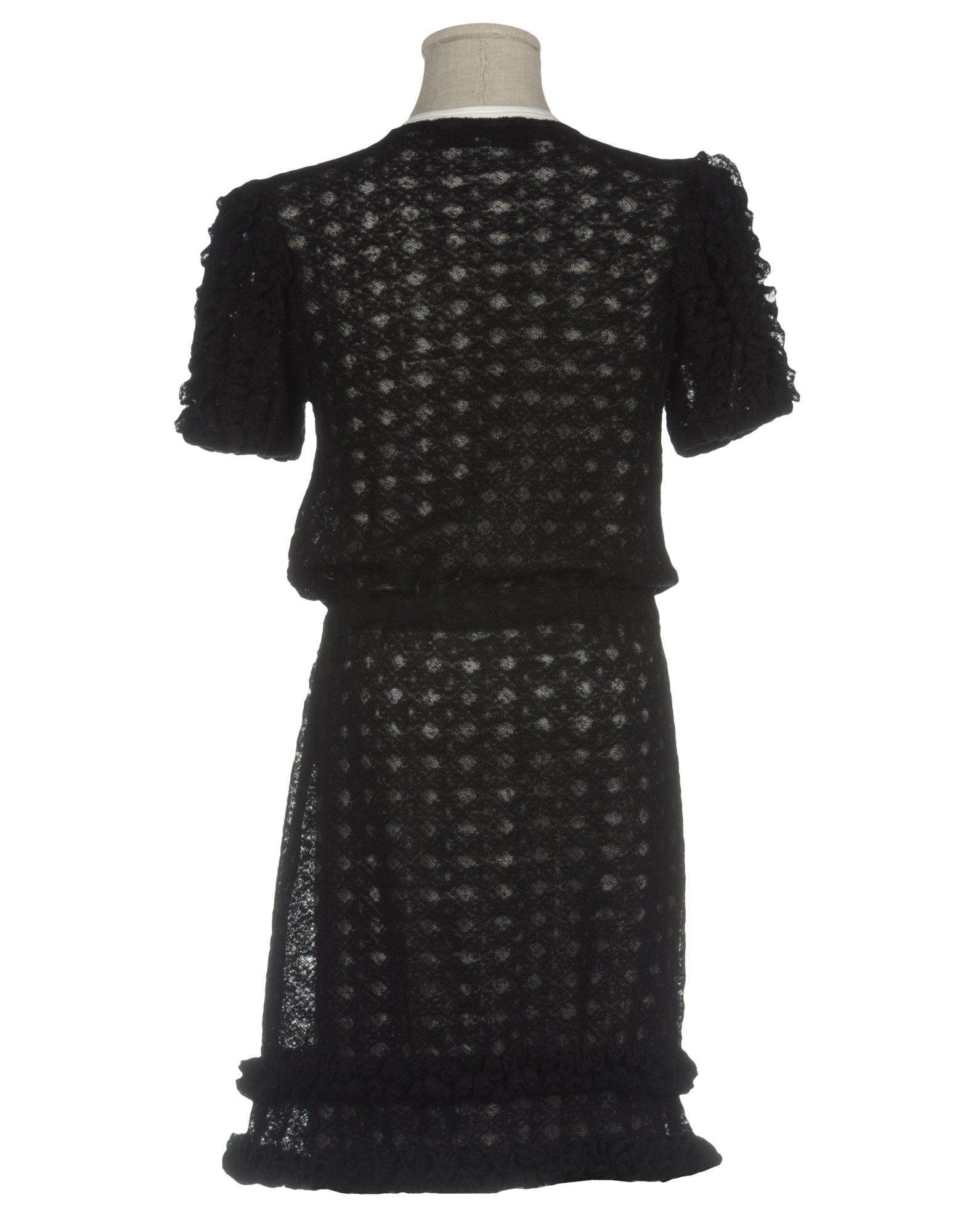 DRESSES Simonetta Jeans Black Girl Wool