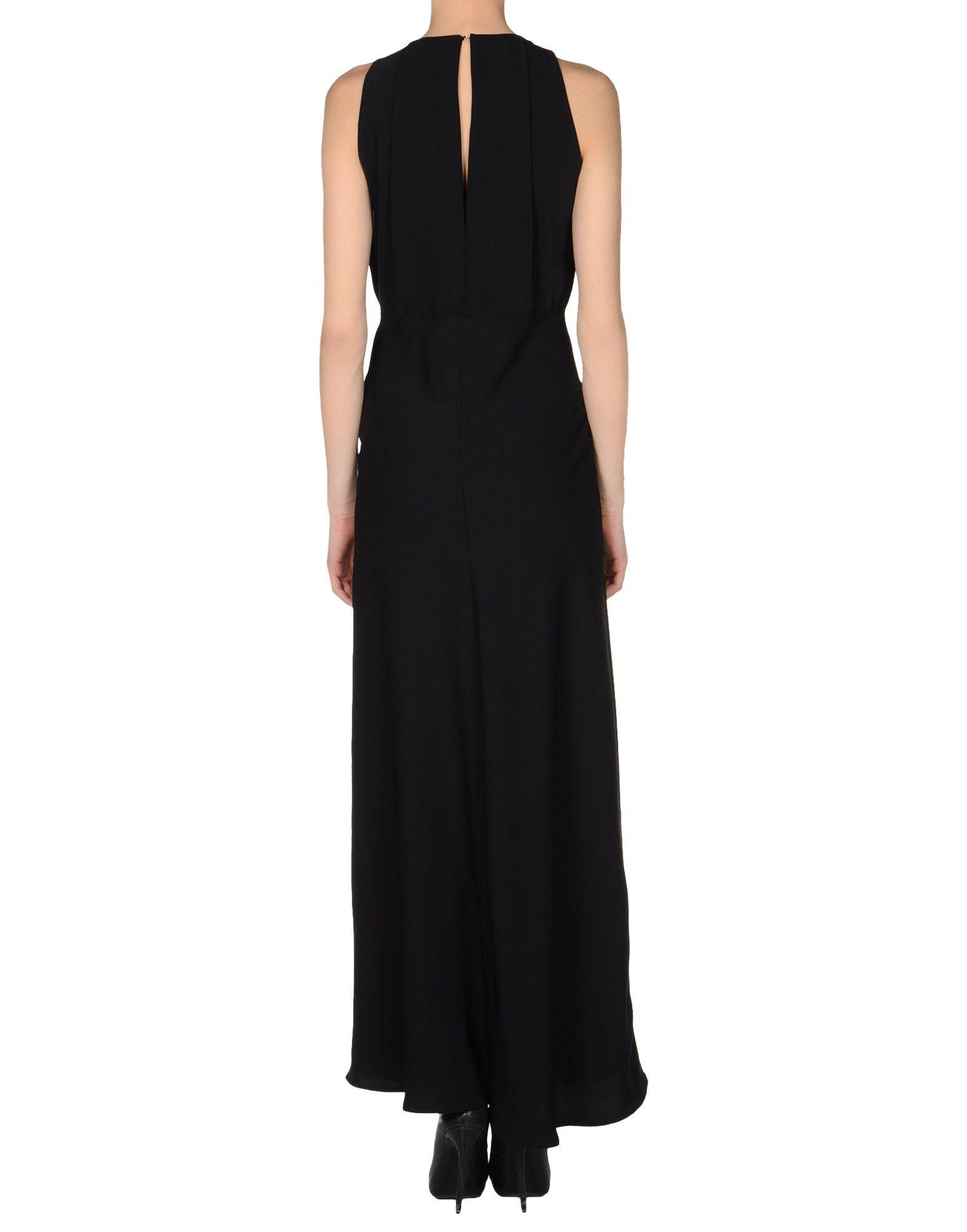 Atos Lombardini Black Sleeveless Full Length Dress